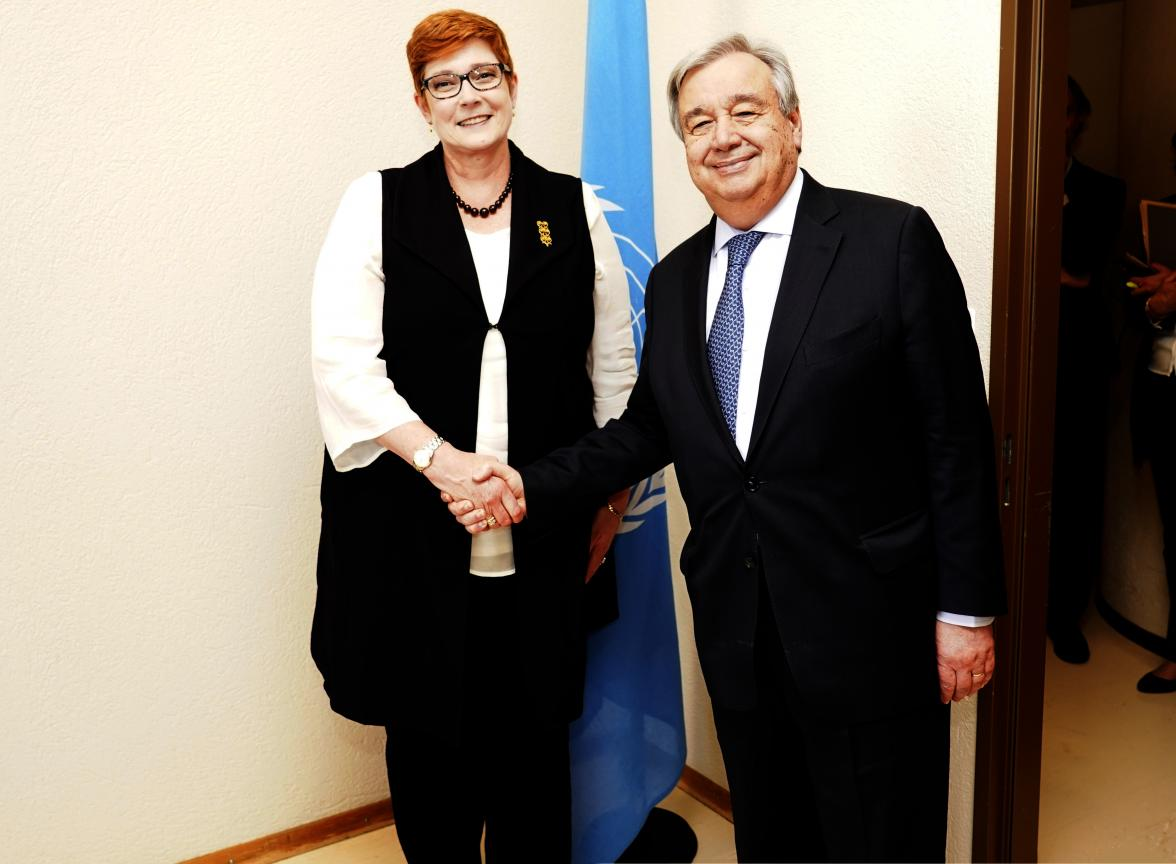 40th session of the United Nations Human Rights Council, 25nfebruary 2019  Marise Payne, Minister for Foreign Affairs of Australia.  Photo: Christian Bonzon